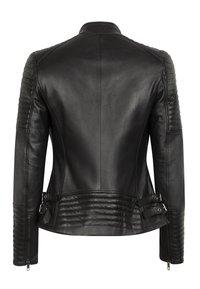 LEATHER HYPE - ÉLYSÉE PERFECTO - Leather jacket - black - 9