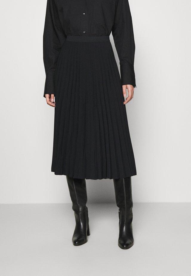 SKIRT - Plisovaná sukně - black dark