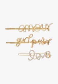 Pieces - PCSANNE HAIRCLIPS 3 PACK - Accessoires cheveux - gold-coloured - 3