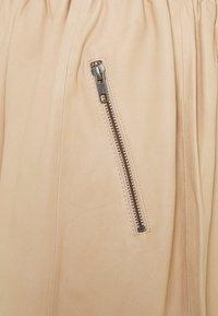 DEPECHE - SKIRT - Leather skirt - dark vanilla - 2