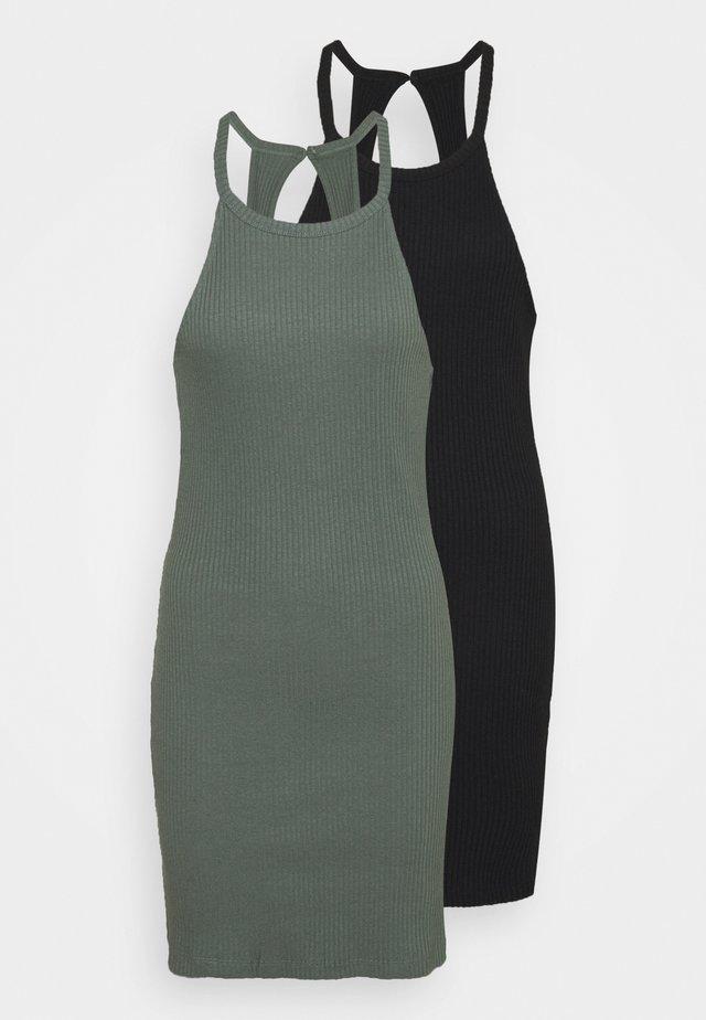 2 PACK - Vestido ligero - black/green