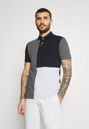 Koszulka polo - black/charcoal heathr/dark grey