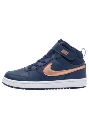 COURT BOROUGH MID 2 UNISEX - Sneakersy wysokie - midnight navy/metallic red bronze/white