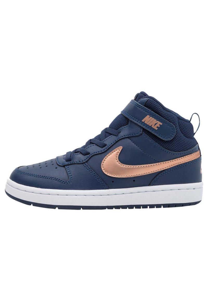 Nike Sportswear - COURT BOROUGH MID 2 UNISEX - Baskets montantes - midnight navy/metallic red bronze/white