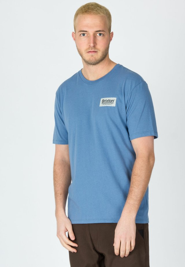 T-shirt con stampa - slate blue