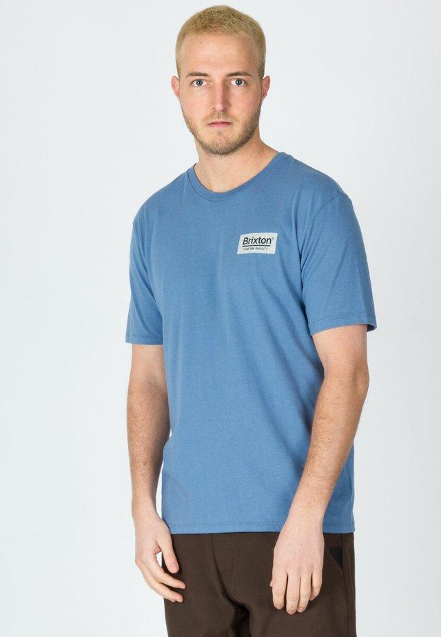 Print T-shirt - slate blue