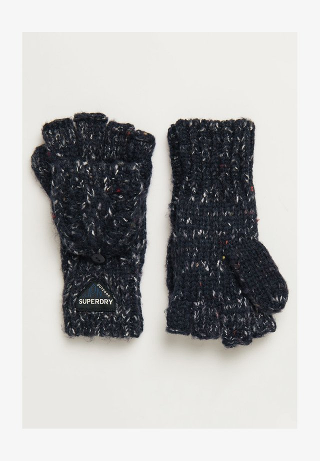 GRACIE - Mitenki - boston navy tweed