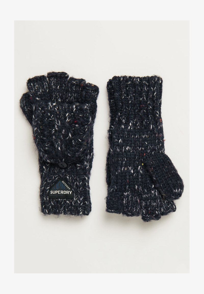 Superdry - GRACIE - Fingerless gloves - boston navy tweed