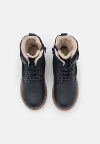Friboo - LEATHER - Lace-up ankle boots - dark blue - 3