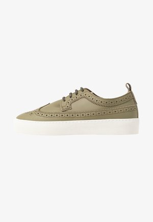 DORIC BROGUE DERBY SHOE - Trainers - olive