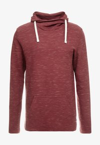 edc by Esprit - FUNNEL NECK TEE - Long sleeved top - bordeaux red - 4