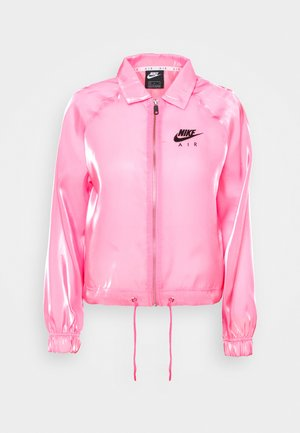 AIR SHEEN - Summer jacket - pink glow/black
