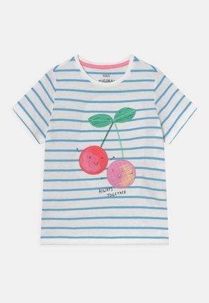 CHERRY STRIPE TEE - T-shirts print - white