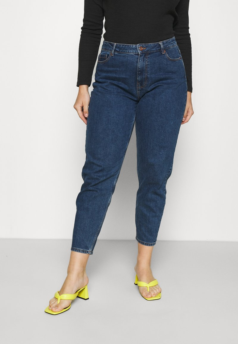 Pieces Curve - PCVERA RELAXED  - Relaxed fit jeans - medium blue denim