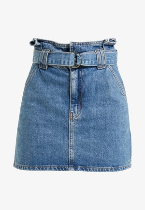 PAPERBAG SKIRT - A-line skirt - blue denim