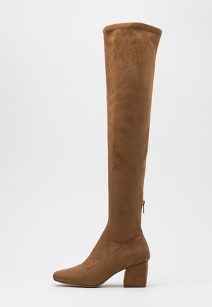 ONLBILLI LIFE LONG SHAFT HEELED BOOT  - Over-the-knee boots - sand