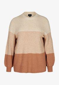 Zizzi - Sweatshirt - beige - 3