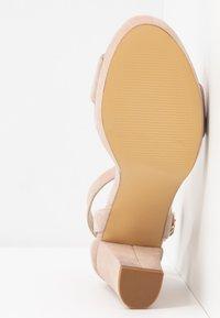 Anna Field - LEATHER HEELED SANDALS - Korolliset sandaalit - nude - 6