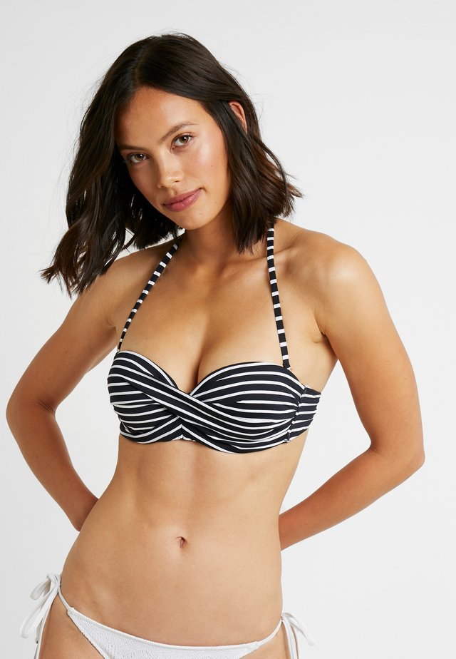 WIRE BAND - Bikini top - black/white