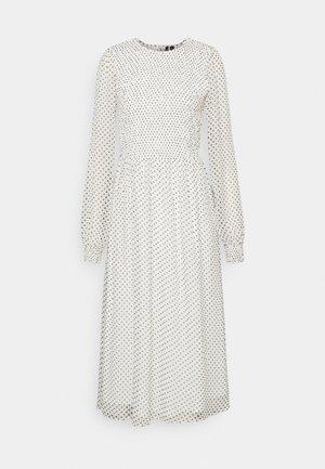 VMSIFFY O NECK SMOCK CALF DRESS - Day dress - snow white/black