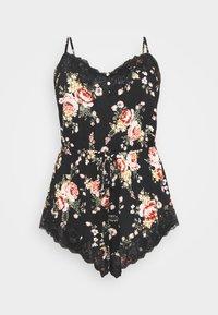 City Chic - JADE PLAYSUIT  - Pyjamas - black/multi coloured - 0