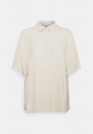 URI SHIRT - Button-down blouse - beige/off-white