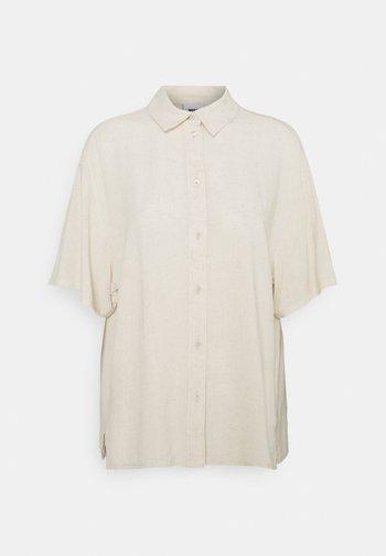 URI SHIRT - Button-down blouse - beige/off-white