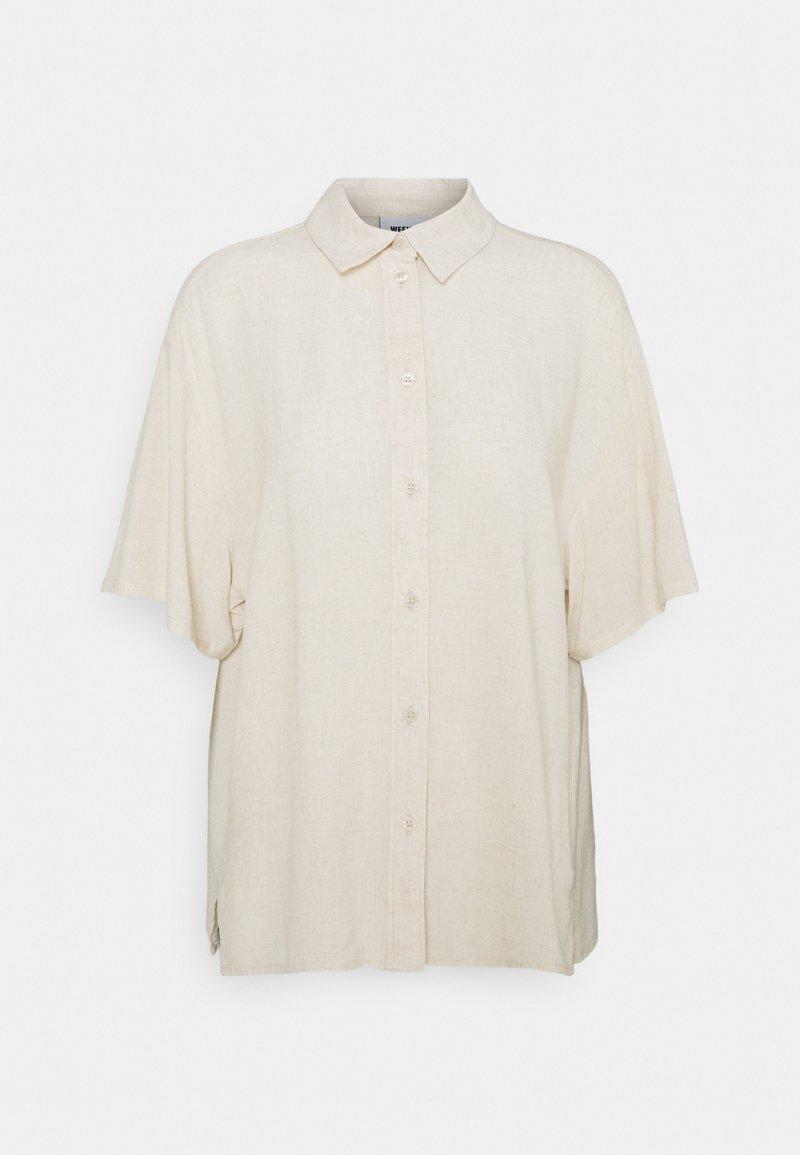Weekday - URI SHIRT - Button-down blouse - beige/off-white