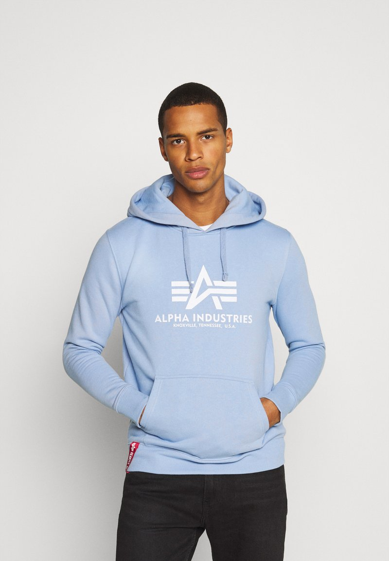 Alpha Industries - BASIC HOODY - Sweatshirt - light blue