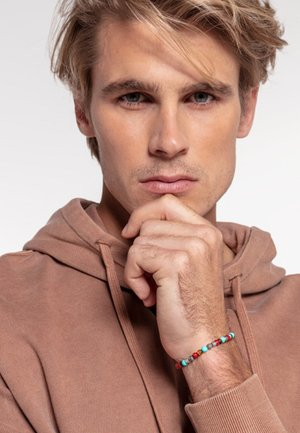 TALISMAN - Bracelet - turquoise/grey/red/silver/brown
