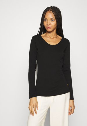 CORE EYBEN SLIM U LONG SLEEVE - Long sleeved top - black