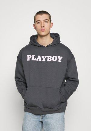PLAYBOY X BIG BUNNY HOODIE UNISEX - Felpa con cappuccio - charcoal