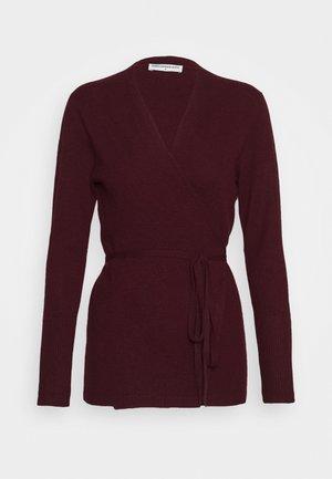 WRAP CARDIGAN - Vest - burgundy