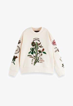CREW NECK ARTWORK - Sweatshirt - off white