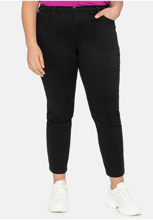 STRETCHHOSE - Trousers - schwarz