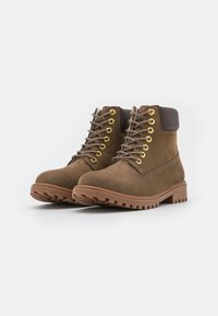 Lumberjack - RIVER - Lace-up ankle boots - taupe - 1