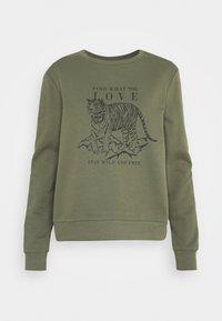 ONLY - ONLZELINA LIFE TIGER BOX - Sweater - kalamata - 0