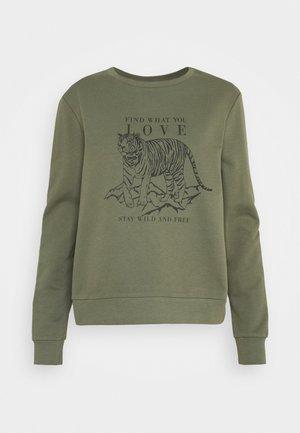 ONLZELINA LIFE TIGER BOX - Sweatshirt - kalamata