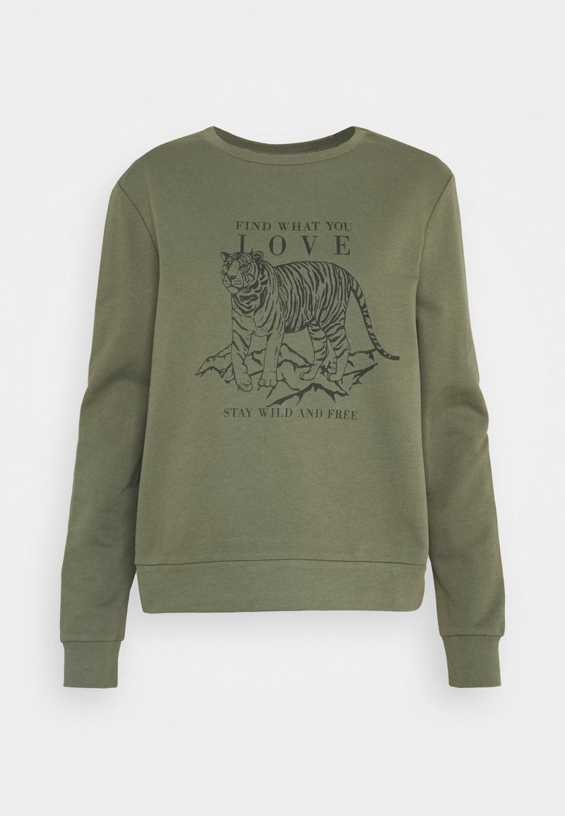 ONLY - ONLZELINA LIFE TIGER BOX - Sweater - kalamata
