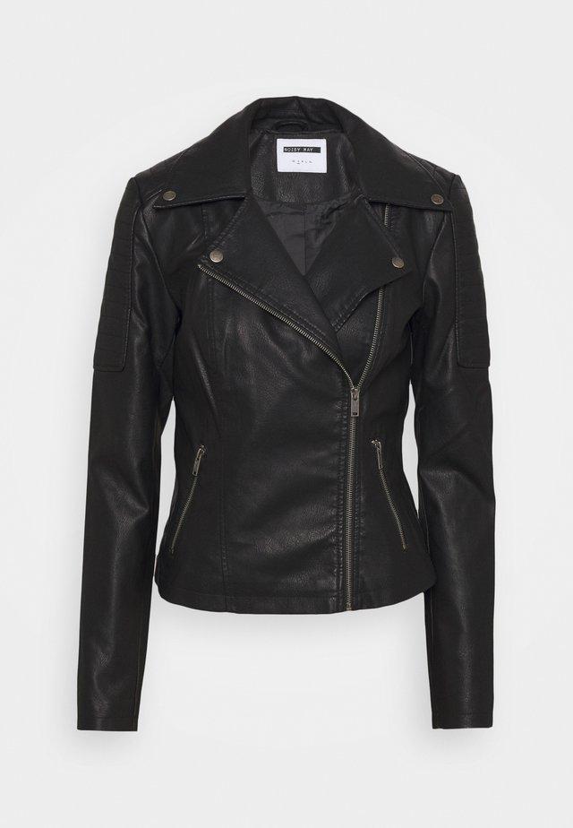NMREBEL JACKET - Imitatieleren jas - black