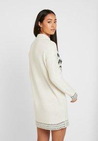 Miss Selfridge - FAIRISLE DRESS - Jumper dress - cream/black - 2