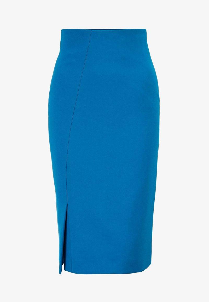 BOSS - VIANNO - Pencil skirt - open blue