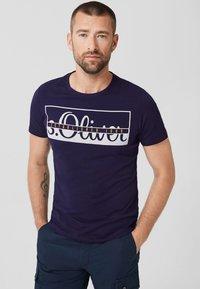 s.Oliver - Print T-shirt - purple - 0