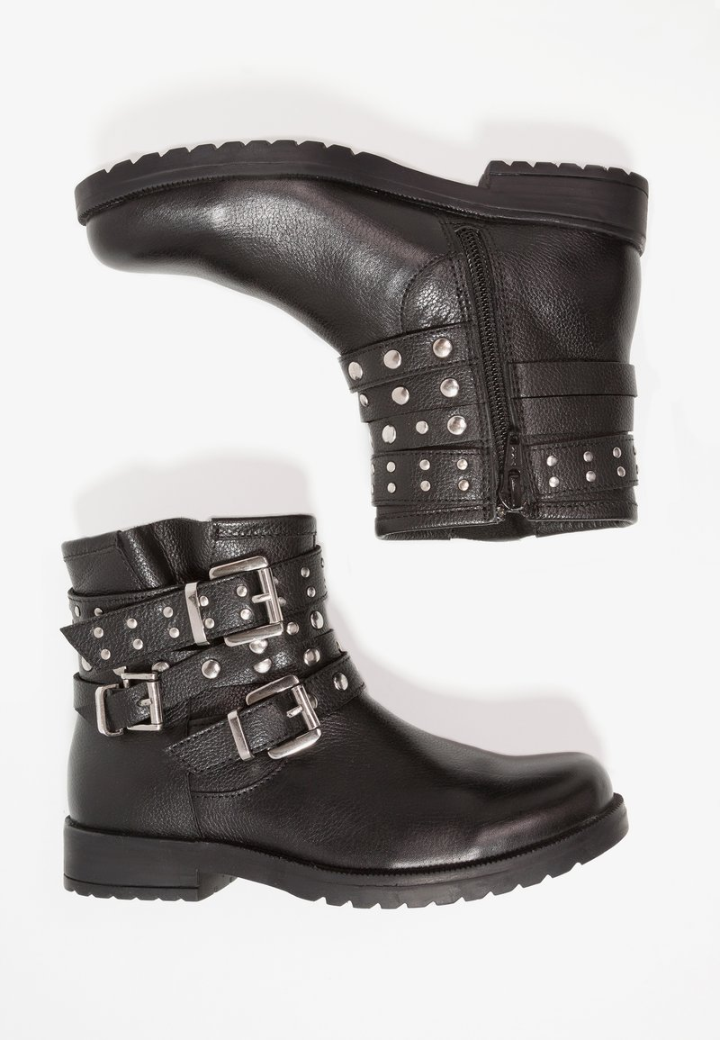 Friboo - Kovbojské/motorkářské boty - black