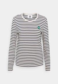 LONG SLEEVE - Top sdlouhým rukávem - off white/navy stripes
