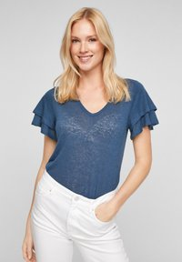 s.Oliver - Print T-shirt - blue - 0