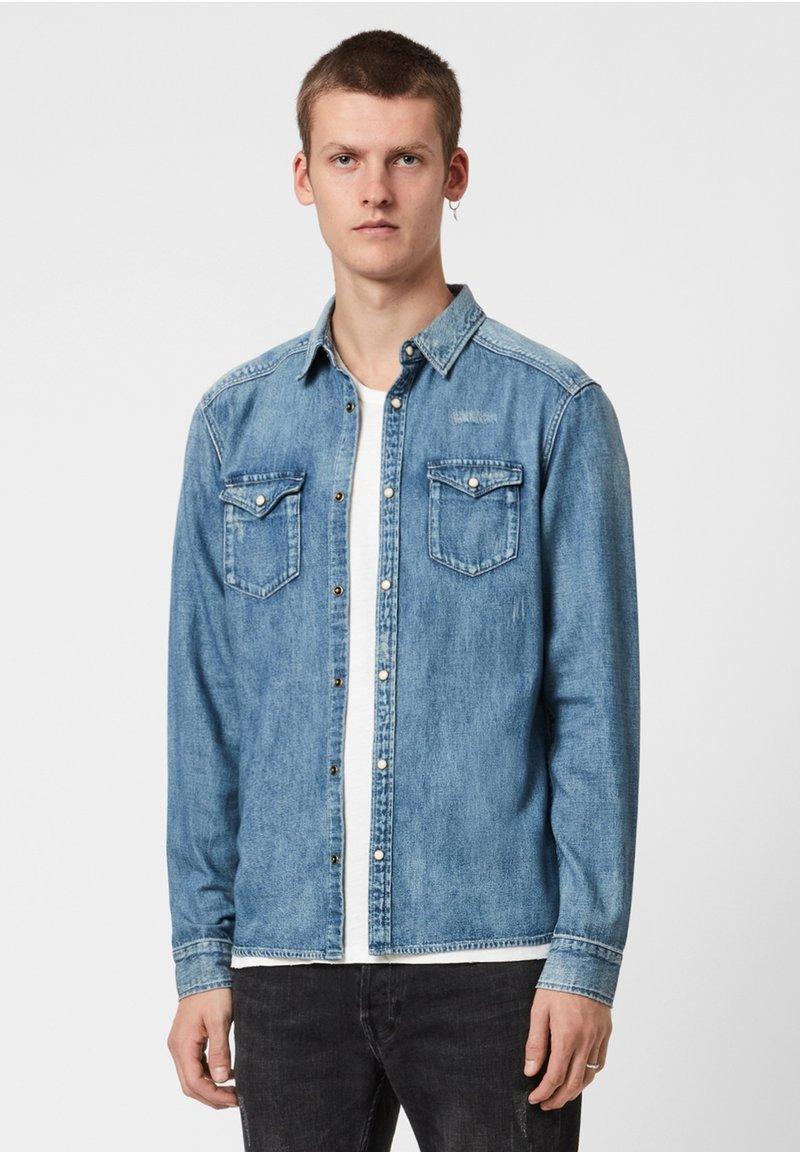 AllSaints - DARFIELD - Shirt - blue