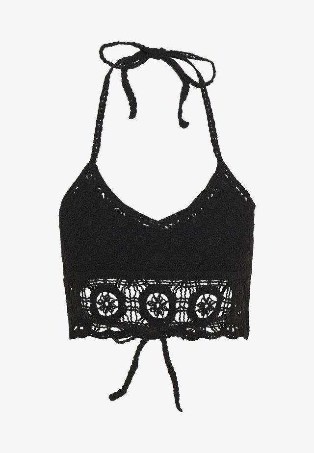 SYDNEY CROCHET BRALETTE - Accessoire de plage - black