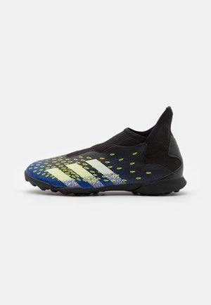 PREDATOR FREAK .3 LL TF UNISEX - Fodboldstøvler m/ multi knobber - core black/footwear white/solar yellow
