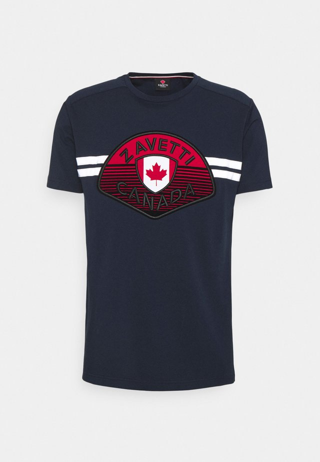 CANUCCI TEE - T-shirts med print - navy